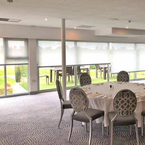 Image of Contract Motorised Blinds Installation at Hurston Hall