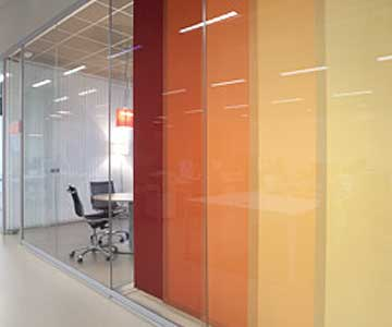 Panel blinds for commercial offices