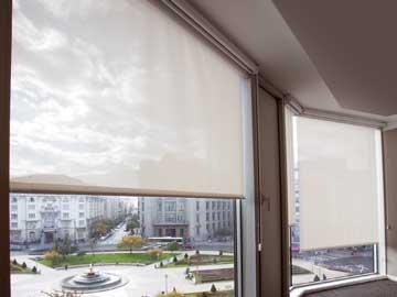 Roller window blinds for schools