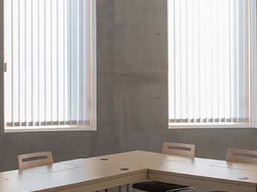 Vertical window blinds for schools