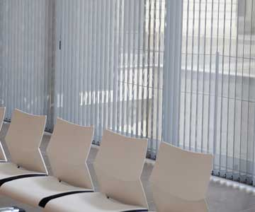Hospital Waiting room Vertical blinds
